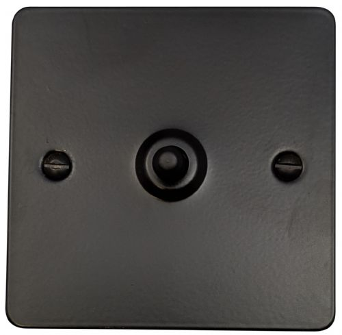 G&H FFB281 Flat Plate Matt Black 1 Gang 1 or 2 Way Toggle Light Switch